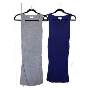 Maternity tight stretch light bundle of 2 dresses